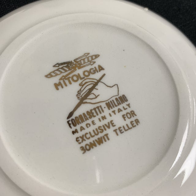 Mid 20th Century 20th Century Italian Fornasetti Coasters Small Plates - Set of 8 For Sale - Image 5 of 9