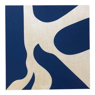 Original Modern Blue Painting by Tony Curry For Sale