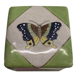 1970s Ceramic Butterfly Box For Sale