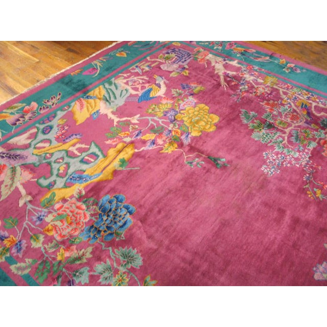 Antique Chinese Art Deco Rug For Sale - Image 4 of 6