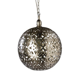 Franci Nickel Globe Lantern For Sale