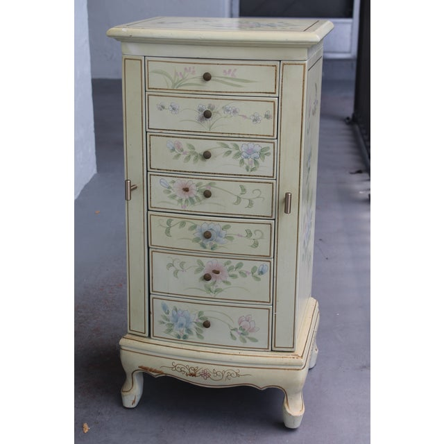 1950s Cottage Deluxe Tall Jewelry Chest For Sale - Image 10 of 10