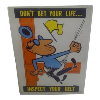 1956 Vintage US Steel Safety Poster For Sale