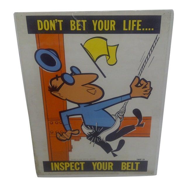 1956 Vintage US Steel Safety Poster - Image 1 of 9