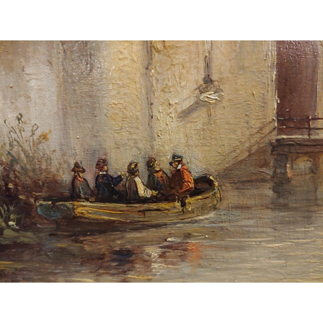 """Etching 19th Century Dutch """"Soldiers Entering a Castle"""" Oil Painting by Petrus Gerardus Vertin For Sale - Image 7 of 9"""