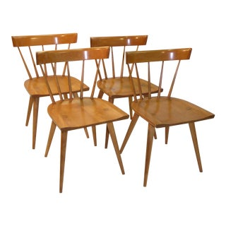 Set of 4 Paul McCobb Planner Group Windsor Style Dining Chairs For Sale