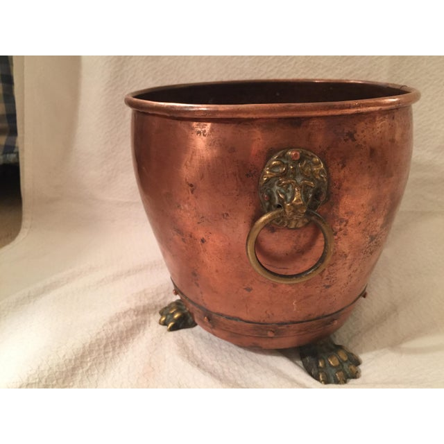 English Copper Cachepot - Image 2 of 8
