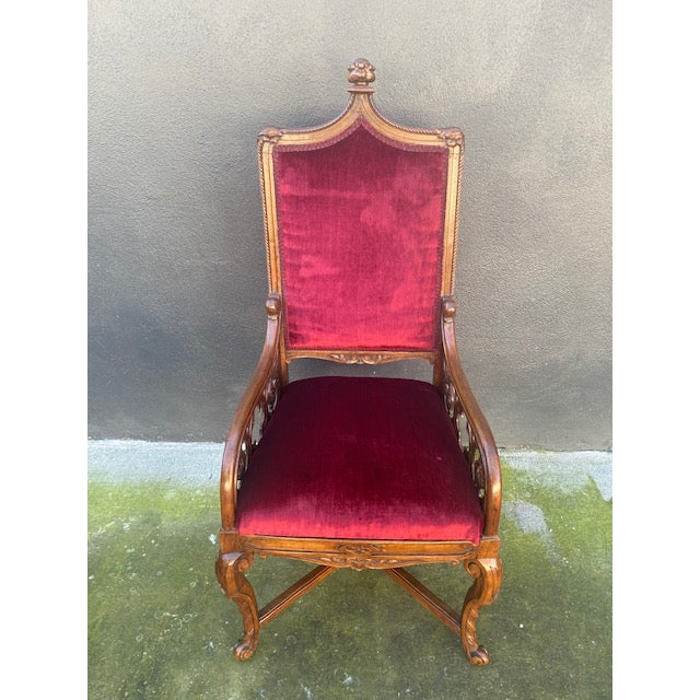 19th C. English Gothic Single Armchair For Sale - Image 13 of 13