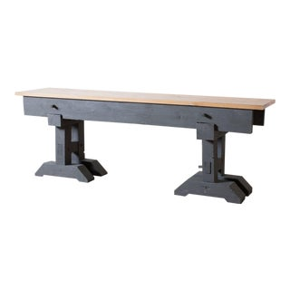Sawhorse Console Table For Sale