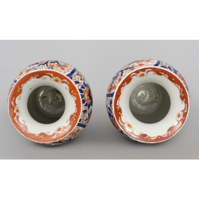 Late 19th Century Pair of Japanese Imari Open Vases, circa 1870 For Sale - Image 5 of 7