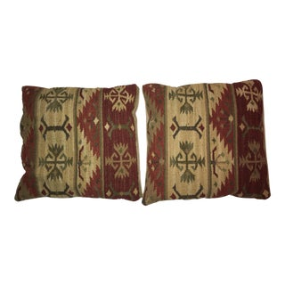 Vintage Kilim Pillows - A Pair For Sale