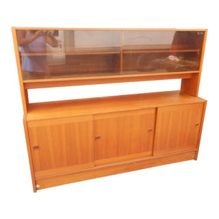 Mid-Century Danish Modern Teak Credenza For Sale