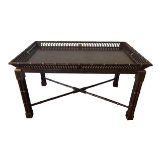 Vintage Mario Buatta for John Widdicomb Coffee Table in Faux Bamboo For Sale