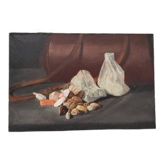 """Late 19th Century """"Holiday Nuts and Candy"""" Still Life Oil Painting C.1890s For Sale"""