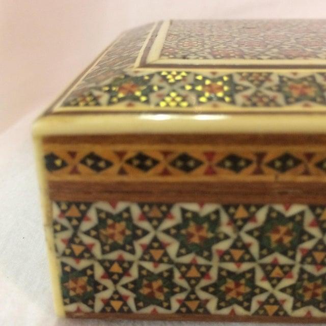 Persian Wood Inlay Box - Image 10 of 10