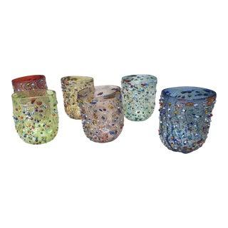 """Murano """"Murrisa Murano Glass"""" Glassware - Set of 6 For Sale"""