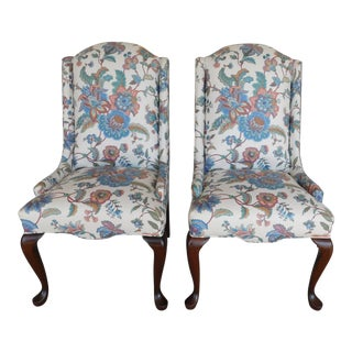 Quality Queen Anne Fireside Slipper Chairs - Pair For Sale