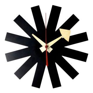 Vintage George Nelson Howard Miller Black Asterisk Clock 1950's For Sale