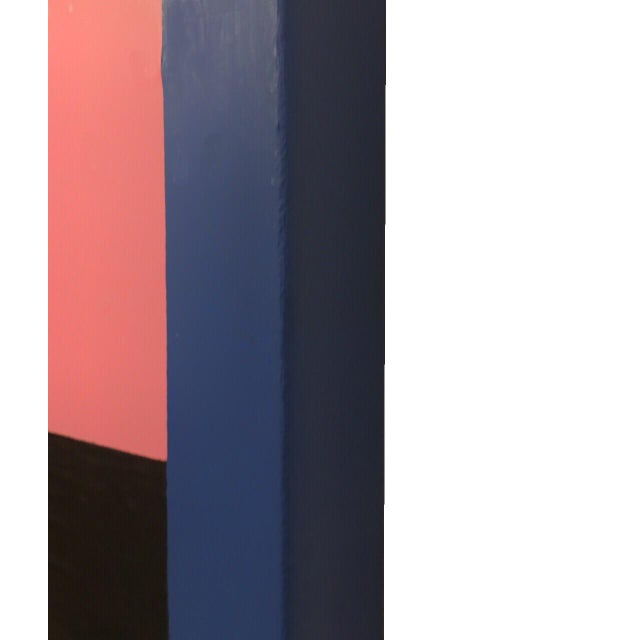Brooks Burns Original Abstract Geometric Paintings - A Pair For Sale - Image 4 of 5