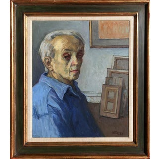 Moses Soyer, Self-Portrait in Studio, ca, 1960 For Sale
