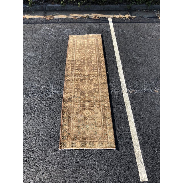 1950s Vintage Persian Sarab Runner - 3′1″ × 10′6″ For Sale - Image 13 of 13