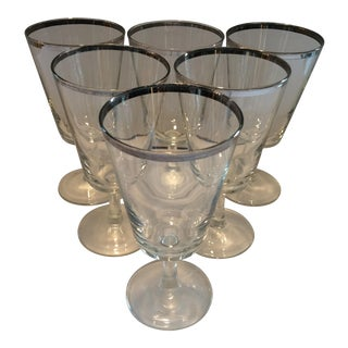 Mid-Century Dorothy Thorpe Footed Lo-Ball Glasses - Set of 6
