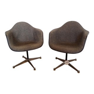 Vintage Herman Miller Swivel Chairs - A Pair