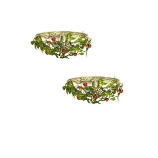 Strawberry Flush Mount Fixtures - A Pair