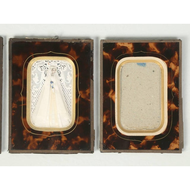 Glass Antique French Faux Tortoiseshell Glass Picture Frames - Set of 6 For Sale - Image 7 of 11