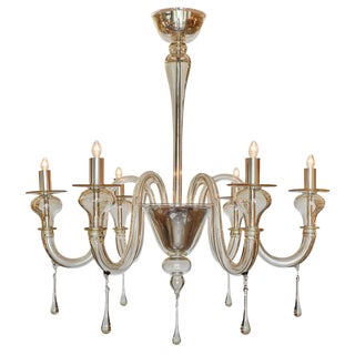 "Murano Glass ""Cristallo Antico"" Chandelier"