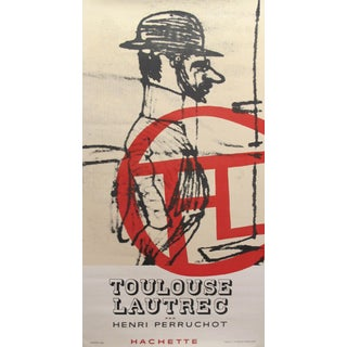1958 Book Release Poster - Toulouse-Lautrec by Henri Perruchot - Hachette For Sale