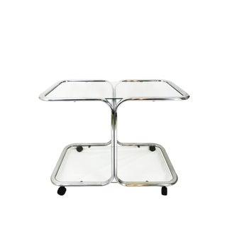 Milo Baughman Style Two-Tier Chrome Bar Cart Preview