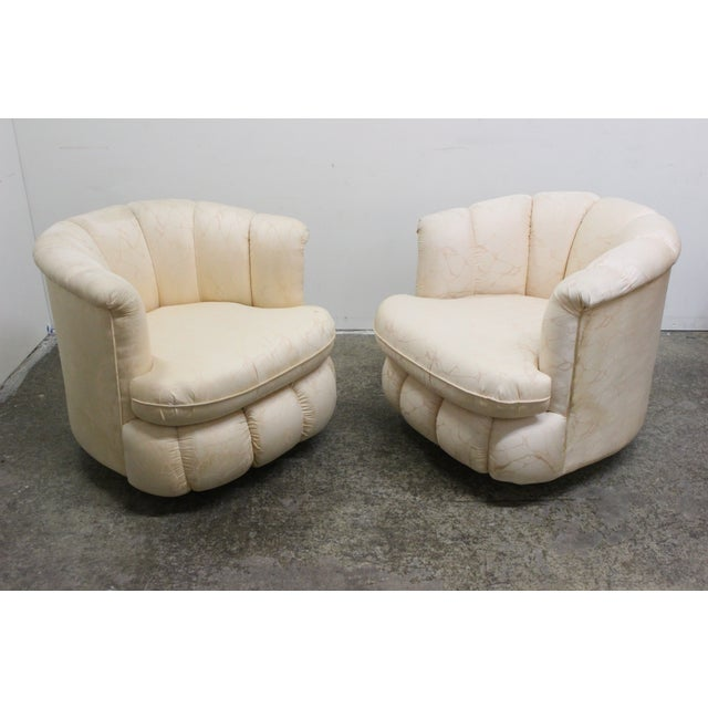 80s Glam Swivel Chairs - A Pair - Image 4 of 7