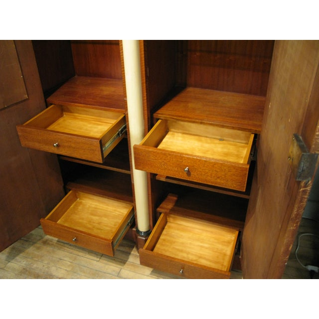 Antique 19th Century Biedermeier Cabinet With Fitted Interior For Sale - Image 4 of 9