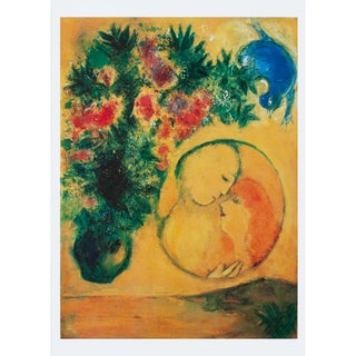"""1993 Marc Chagall """"Sun and Mimosa"""", First Edition Poster For Sale"""