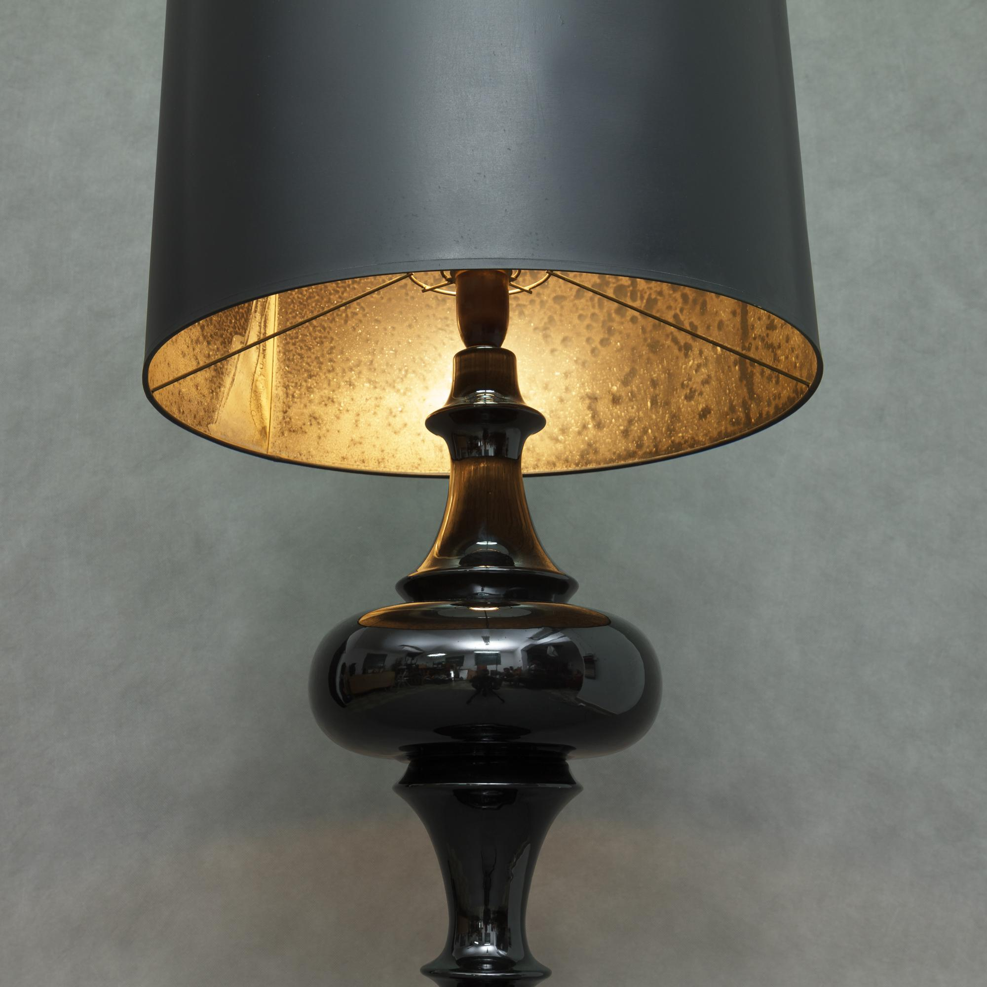 Black Italian Ceramic Floor Lamp Chairish