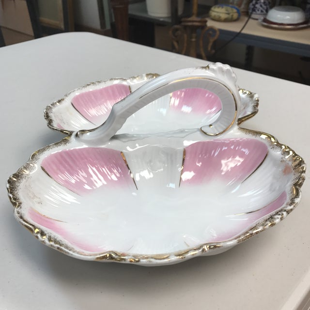 1960s KPM Porcelain Double Bowl With Handle For Sale - Image 5 of 8
