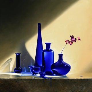 """""""Riflessione Blu"""" Contemporary Still Life Giclee by Dario Campanile For Sale"""