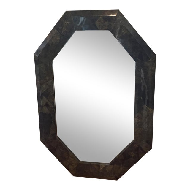 "54"" X 36"" Coconut Shell Mosaic Mirror For Sale"