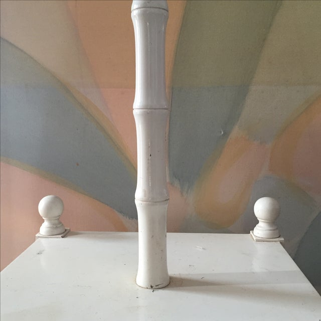 Greek Key Floor Lamp With Table Top For Sale - Image 5 of 5