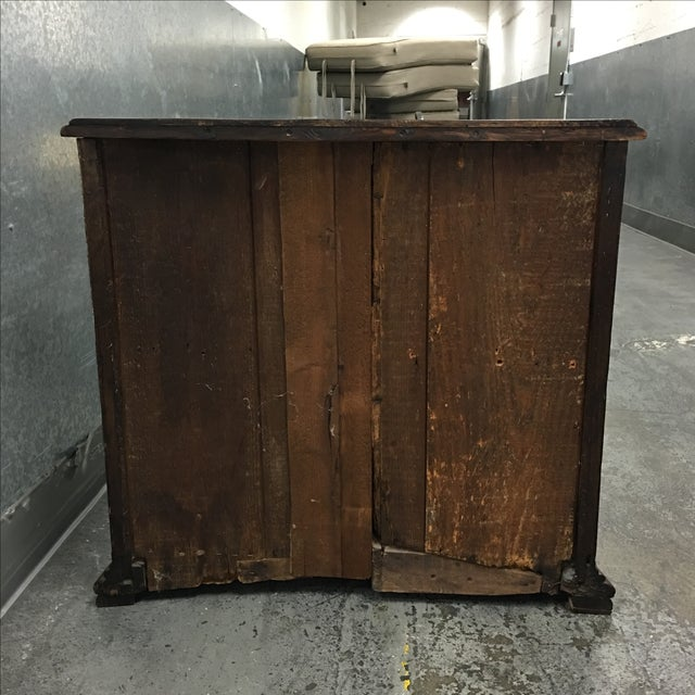Vintage Wooden Mini Bar Cabinet With Keys For Sale In San Francisco - Image 6 of 6