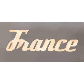 """Mid-Century Modern """"France"""" Signage From Travel Agency Preview"""