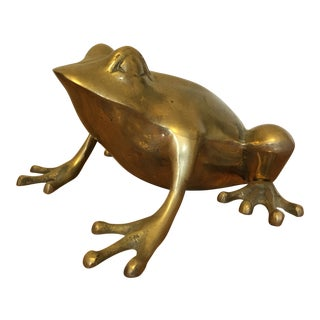 Mid-Century Brass Frog For Sale