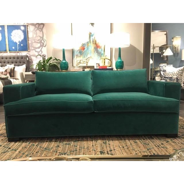 Swell Green Velvet Sofa Machost Co Dining Chair Design Ideas Machostcouk