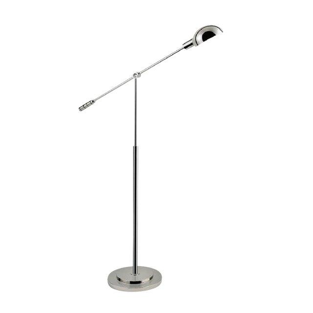 Polished Nickel Adjustable Floor Light For Sale