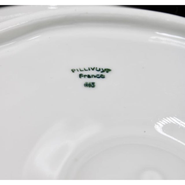 Ceramic Vintage French Pillivuyt White Oyster Plate For Sale - Image 7 of 8