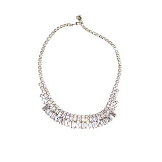 Vintage Weiss Rhinestone Necklace For Sale