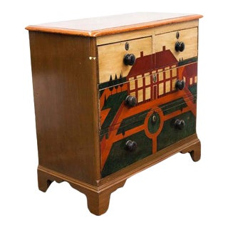 English Pine Painted Chest For Sale
