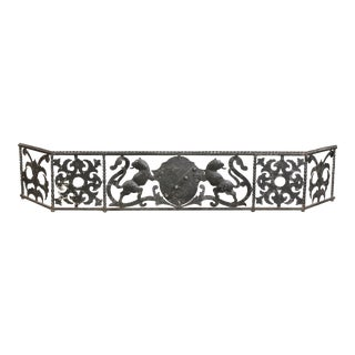 Italian Wrought Iron Fire Fender For Sale