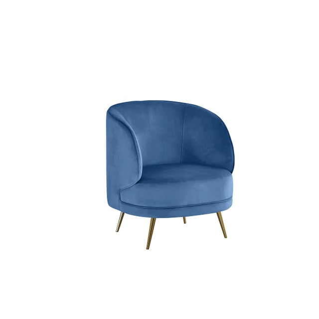 Carrie Armchair in Blue For Sale In Los Angeles - Image 6 of 6